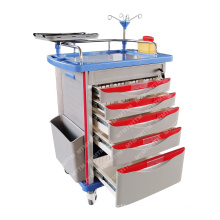 MT MEDICAL hot sell modern hospital crash cart medicla emergency trolley