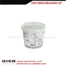 copo de medição de mistura da pintura plástica