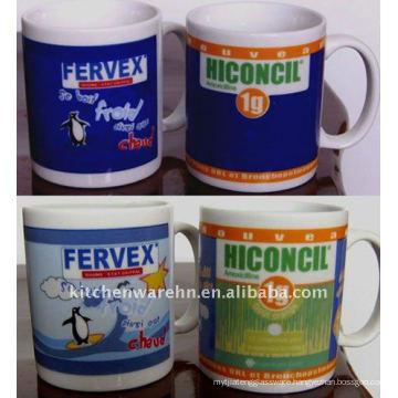 11oz magic ceramic mugs with sublimition decal
