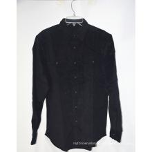 Летняя черная повседневная блузка с принтом