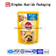 Alimentación plástica colorida del bolso del alimento del animal doméstico de la categoría alimenticia
