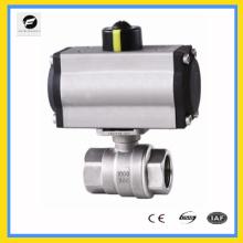 CWX-series Two-piece type pneumatic actuator mounted ball valve