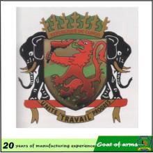 Emblema nacional do costume de fábrica chinesa