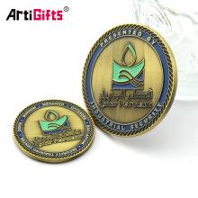Moneda euro de la carretilla del token del espacio en blanco de la aleación del cinc del acero inoxidable del metal al por mayor