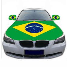 Custom Brazil national flag car hood cover
