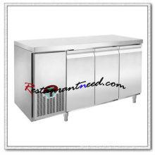 R303 1,8 m 3 Türen Luxuriöse Fancooling Unterbau Kühlschrank / Gefrierschrank