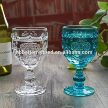 Crown Embossed Handmade Wine Glass Goblet