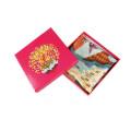 Papel personalizado caixa de cartão dobrável para cachecol, maquiagem, presente, cinto