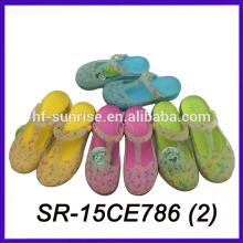 Color cambiante impreso eva pantuflas zapatillas eva dos pantalones color eva