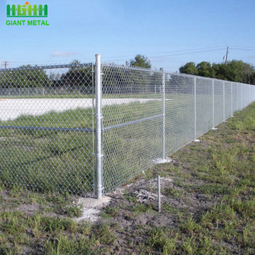 Galvanized Digunakan Chain Link Diamond Wire Mesh Fence