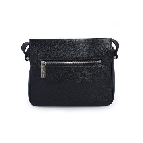 Mini Fashion Lady Black Zipper Crossbody Ledertaschen