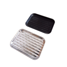 Camping Rectangular Stainless Steel BBQ Grill Tray