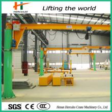 360 Degree Rotate Pillar-Mounted Jib Crane for Workstation