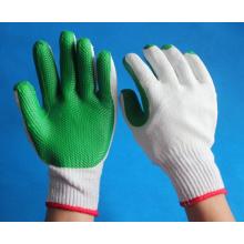 Fournissent des gants de coton blanc blanchis revêtus de caoutchouc sur la paume