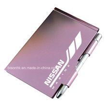 Hochwertiger Metall Notizblockhalter mit Stift