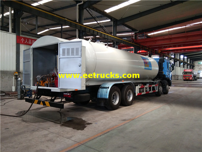 LPG Delivery Tanker Vehicles