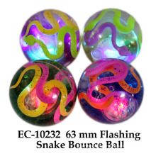 Funny 65mm Flashing Snake Water Boucing Ball Toy