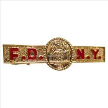 Soft Enamel Metal Tie Bar in Gold Plating