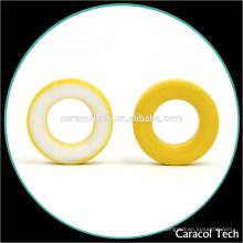 Color amarillo y blanco CT124-26 Bobina de hierro suave Núcleos en polvo