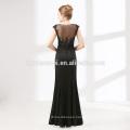 Black elegant prom dress sleeveless see through lace evening dress fashion 2012