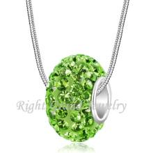 Dernières perles de conception collier péridot cristal pavée européenne charmes de perle grand trou