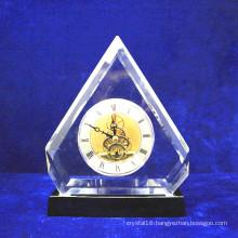 Luxury Table Crystal Desk Clock for Home Decoration (KS38401)