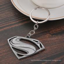 Creative Gift Movie Peripheral Metal Superman Keychain Car Advertising Waistband Keyring Chain Ring Pendant