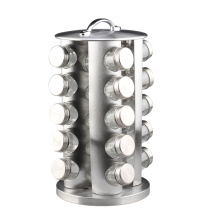 Cremalheira de especiaria giratória redonda de aço inoxidável