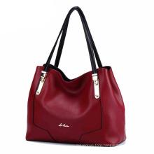 New Designed Factory OEM Lady PU Leather Tote Woman Fashion Handbag (ZX10160)