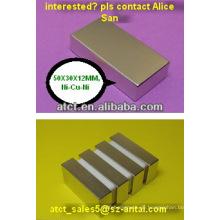 Bulk-Neodym-Magneten, Quadermagnet