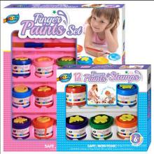 6 caja de sello de pintura de dedo