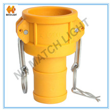 Plastic Coupler Type C with Grooved Hose Shank Kamlock Coupling