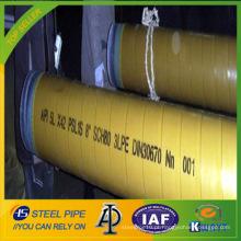 LSAW Deluxe grau 3PE API 5L tubulação de aço