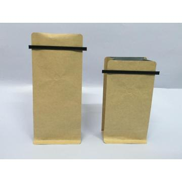 Whey Protein Powder Packaging Side Gusset Coffee Kraft Paper Bag