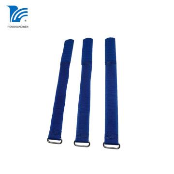 Adjustable Hook And Loop Strap With Metal Buckle
