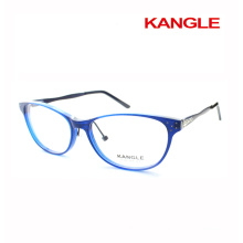 Newest design Lady reading glasses frames acetate optical glasses & acetate mix with metal