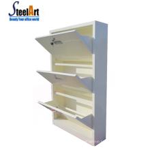 Wall mounted shoe rack hinges waterproof steel wall shoe rack popular metal shoe cabinet