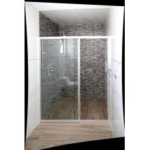 Duschkabine aus gehärtetem Glas mit Schiebetür