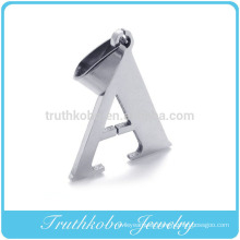 2016 Hot Selling Shiny Polishing Silver Stainless Steel Custom Letter A B And So On Alphabets Designs Metal Pendant