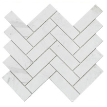 Natural Elegant Style White Color Calacatta Marble Mosaic Tile