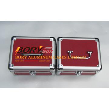Starke hochwertige Aluminiumrahmen Make-up Aufbewahrungskoffer