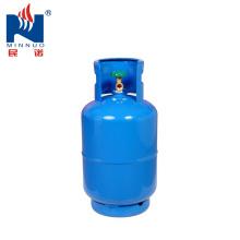 Cilindro de gás do LPG 12kg com a válvula para o mercado de Ámérica do Sul