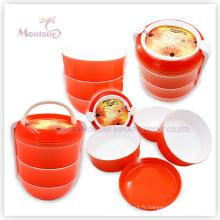 Récipient de nourriture de pp, boîte à déjeuner ronde en plastique