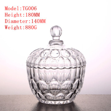 Crystal glass candy jar jewerly box decoration bottle