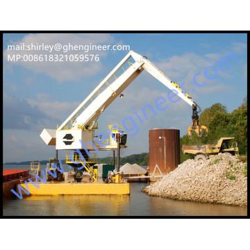 500t/h Electrical Hydraulic Floating Bulk Handling Crane 35T 40T