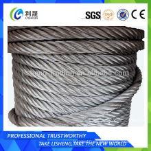 Cuerda de alambre de acero no galvanizado 19 * 7