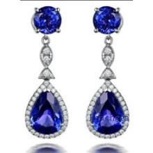 Fashion Jewellery Tanzanite Cubic Zirconia Earrrings