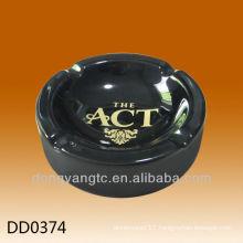 Wholesale black glazed ceramic promotional ashtray