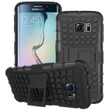 Caso de borde S6 Galaxy, para Samsung Galaxy S6 borde combinado caja con soporte
