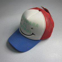 Novelty Polyester Smile Face Trucker Cap